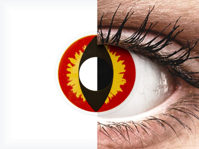 ColourVUE Crazy Lens - Dragon Eyes - Diarias sin graduación (2 Lentillas)