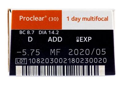 Proclear 1 Day multifocal (30lentillas) - Previsualización de atributos
