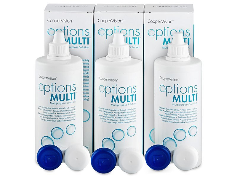 Líquido Options Multi 3x360 ml  - Pack ahorro - solución triple