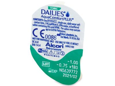 Dailies AquaComfort Plus Toric (90 lentillas) - Previsualización del blister