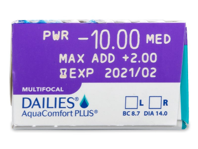 Dailies AquaComfort Plus Multifocal (30 lentillas) - Previsualización de atributos