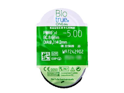 Biotrue ONEday (30lentillas) - Previsualización del blister