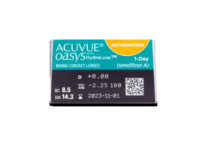 Acuvue Oasys 1-Day with HydraLuxe for Astigmatism (30 lentillas) - Previsualización de atributos