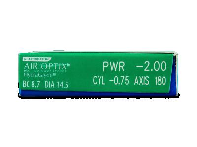 Air Optix plus HydraGlyde for Astigmatism (6lentillas) - Previsualización de atributos