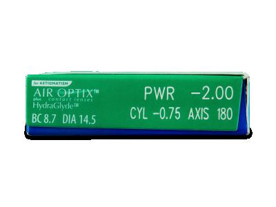 Air Optix plus HydraGlyde for Astigmatism (3 lentillas) - Previsualización de atributos