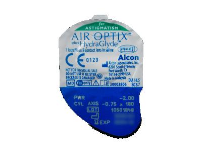 Air Optix plus HydraGlyde for Astigmatism (3 lentillas) - Previsualización del blister