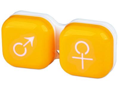 Estuche de lentillas - mujer y hombre - Amarillo