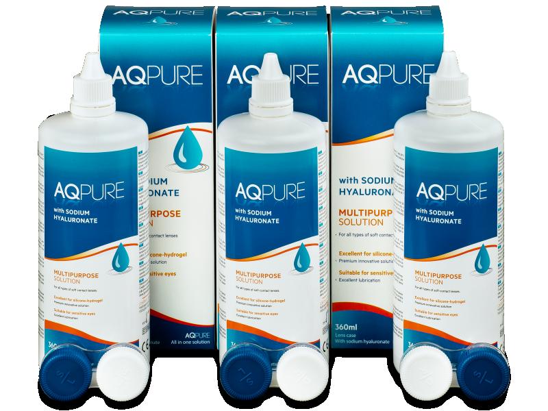 Líquido AQ Pure 3 x 360 ml  - Pack ahorro - solución triple