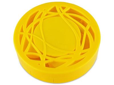Estuche de lentillas con ornamento - Amarillo