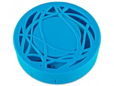Estuches con espejo - Estuche de lentillas con ornamento - Azul