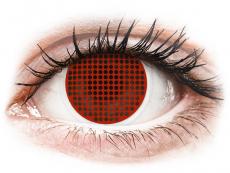 Lentillas de color rojo - sin graduación - ColourVUE Crazy Lens - Red Screen - Sin graduación (2lentillas)