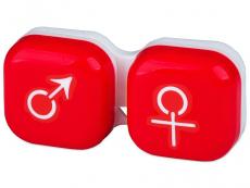 Accesorios - Estuche de lentillas mujer y hombre - rojo