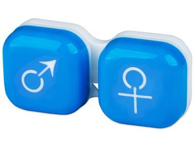 Estuche de lentillas mujer y hombre - azul
