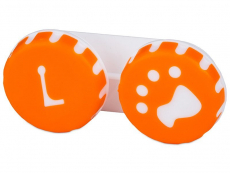 Accesorios - Estuche de lentillas huella - naranja