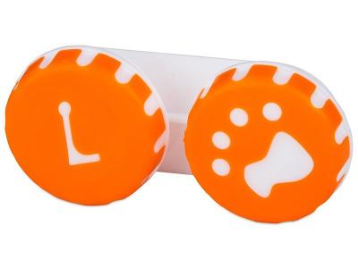 Estuche de lentillas huella - naranja