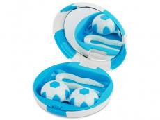 Estuche de lentillas Futbol - Azul