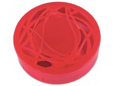 Estuche de lentillas con ornamento - Rojo