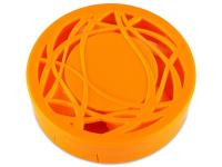 Estuche de lentillas con ornamento - naranja