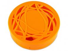Estuches con espejo - Estuche de lentillas con ornamento - naranja