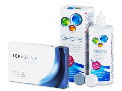 TopVue Air (6 Lentillas) + Gelone 360 ml