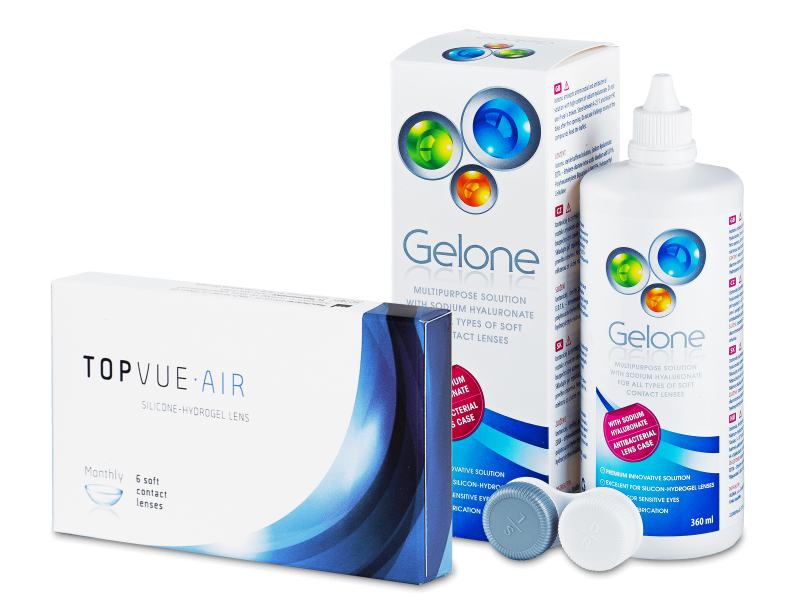 TopVue Air (6 Lentillas) + Gelone 360 ml - Pack ahorro