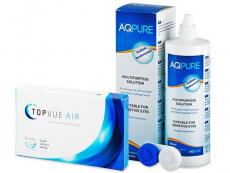 Packs ahorro de lentillas + líquido - TopVue Air (6 Lentillas) + AQ Pure 360ml