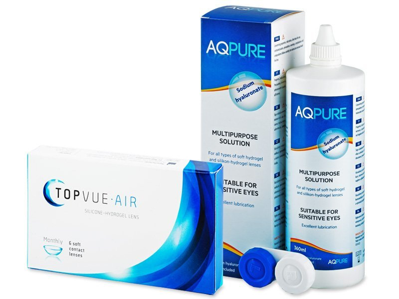 TopVue Air (6 Lentillas) + AQ Pure 360ml
