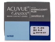 Acuvue Oasys (24 lentillas) - Previsualización de atributos