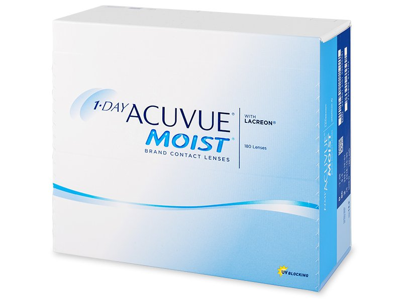 1 Day Acuvue Moist (180 Lentillas) - Lentillas diarias desechables - Johnson and Johnson