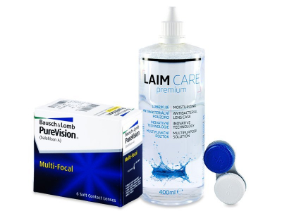 PureVision Multi-Focal (6 Lentillas) +Líquido Laim-Care400 ml