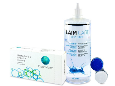 Biomedics 55 Evolution (6 Lentillas) + Líquido Laim-Care 400 ml
