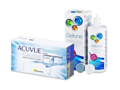 Acuvue Oasys for Astigmatism (12 Lentillas) + Gelone 360 ml