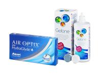 Air Optix plus HydraGlyde (6 Lentillas) + Gelone 360 ml