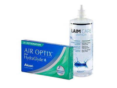 Air Optix plus HydraGlyde for Astigmatism (3 Lentillas) + Laim-Care 400 ml