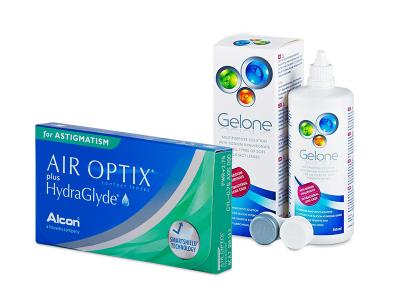 Air Optix plus HydraGlyde for Astigmatism (6 Lentillas) + Gelone 360 ml