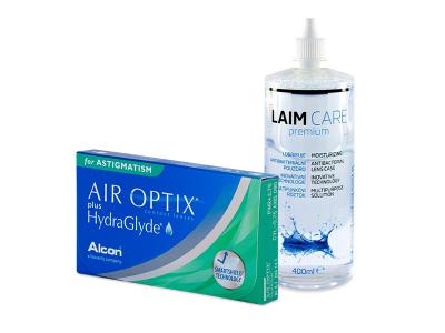 Air Optix plus HydraGlyde for Astigmatism (6 Lentillas) + Laim-Care 400 ml