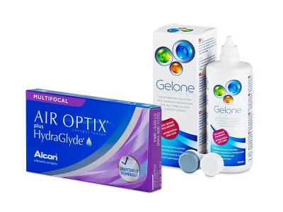 Air Optix plus HydraGlyde Multifocal (3 Lentillas) + Gelone 360 ml