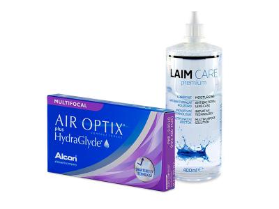 Air Optix plus HydraGlyde Multifocal (3 Lentillas) + Laim-Care 400 ml