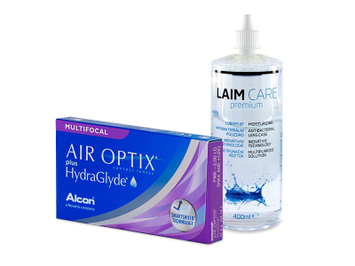 Air Optix plus HydraGlyde Multifocal (6 Lentillas) + Laim-Care 400 ml