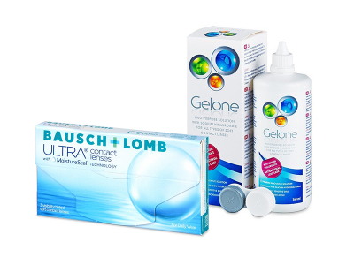 Bausch + Lomb ULTRA (3 Lentillas) + Gelone 360 ml
