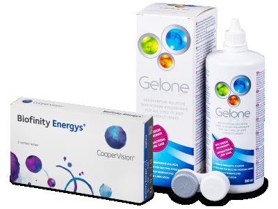 Biofinity Energys (3 Lentillas) + Gelone 360 ml