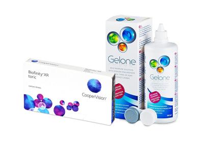 Biofinity XR Toric (3 Lentillas) + Gelone 360 ml