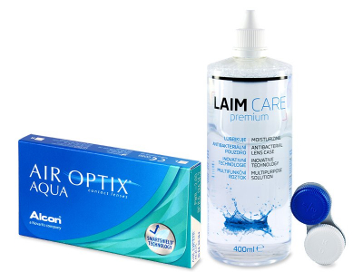 Air Optix Aqua (6 lentillas) + Líquido Laim-Care 400 ml