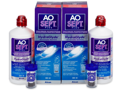 Líquido AO SEPT PLUS HydraGlyde 2 x 360ml  - Pack ahorro - solución doble