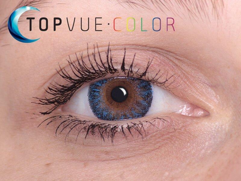 True Sapphire en ojos marrones