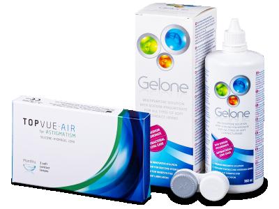 TopVue Air for Astigmatism (3lentillas) + Gelone 360 ml