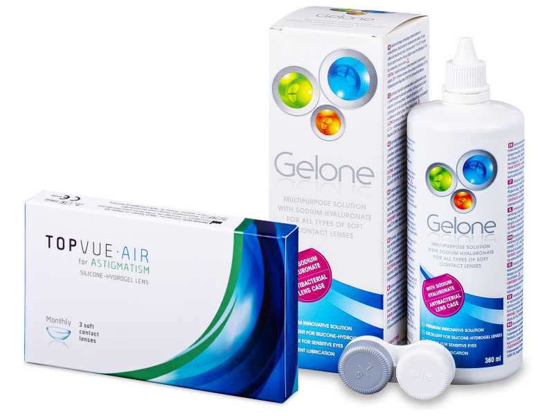 TopVue Air for Astigmatism (3 lentillas) + Gelone 360 ml