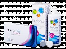 TopVue Air Multifocal (3lentillas) +Líquido Gelone 360ml