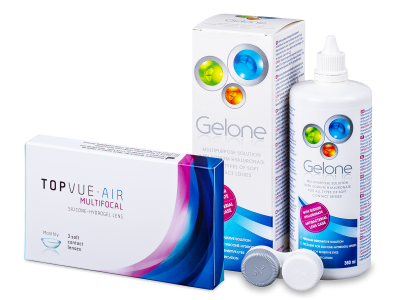 TopVue Air Multifocal (3 lentillas) + Líquido Gelone 360ml