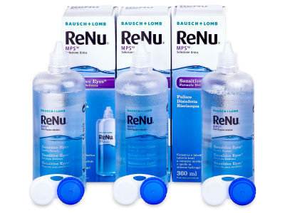 Líquido ReNu MPS Sensitive Eyes 3 x 360 ml